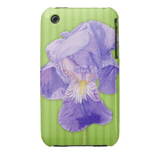 Purple Iris green iPhone 3G/3GS Barely There™ iPhone 3 Case-Mate Case