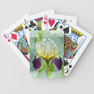 Purple Iris Impressionist Floral Painting Art Bicycle Playing Cards