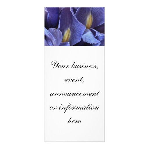 Purple Iris Invitation ir Event Rack Card
