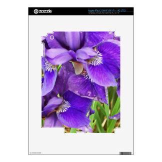 Purple Iris iPad 3 Skin