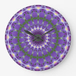 Purple Iris Kaleidoscope clock