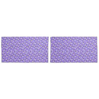Purple Iris King Size Pillow Case Pillowcase