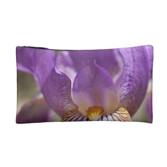 Purple Iris Makeup Bag