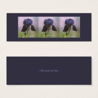 Purple Iris Mini Business Card