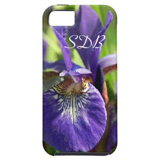 Purple Iris Monogram Tough iPhone 5 Case