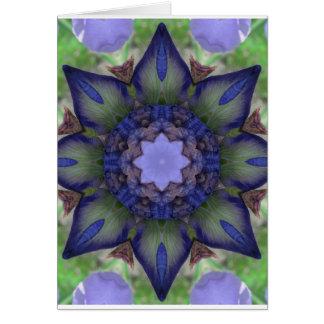 Purple Iris Nature Mandala Card