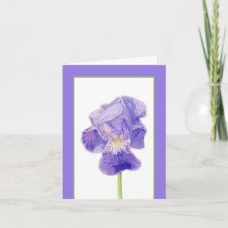 Purple Iris Note Card card