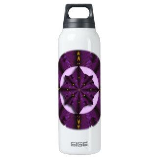 Purple Iris Petal Mandala Thermo Bottle 16 Oz Insulated SIGG Thermos Water Bottle