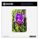 Purple Iris Photo Decals For iPod Touch 4G
