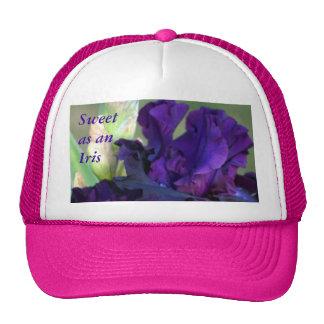 Purple Iris Pink Cap- customize Trucker Hat