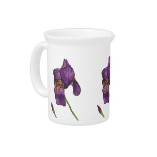 Purple Iris Pitcher