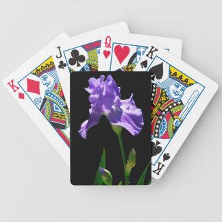 Purple Iris Bicycle Playing Cards