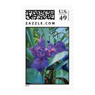 Purple Iris Stamps