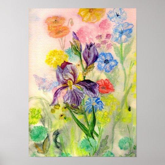 'Purple Iris' Poster