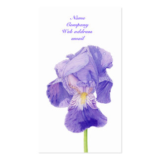 Purple Iris Profile Card Business Card Templates