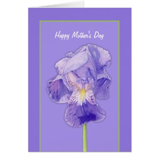 Purple Iris purple Mother's Day Card card