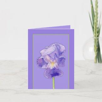 Purple Iris purple Note Card card
