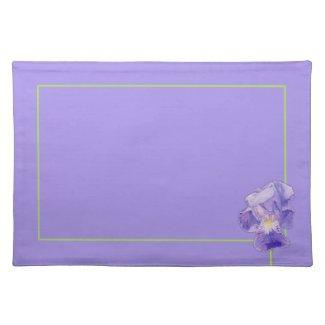 Purple Iris purple Placemat placemat