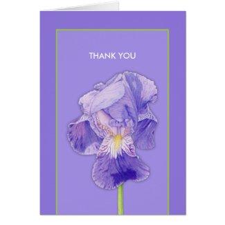 Purple Iris purple Thank You Card card