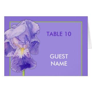 Purple Iris purple Wedding Dinner Place Card