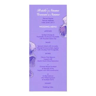 Purple Iris purple Wedding Menu Card