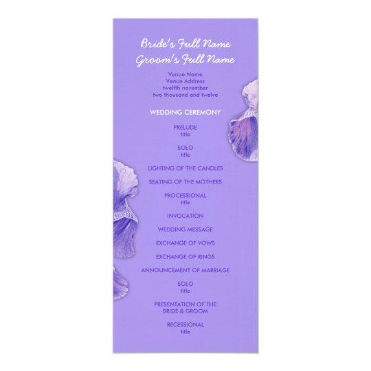 Purple Iris purple Wedding Program