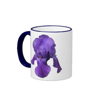 Purple Iris Ringer Coffee Mug