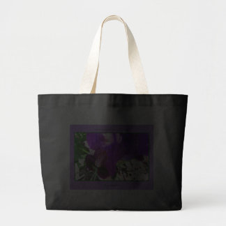 Purple Iris Royal Purple Plumes Large Tote Bag