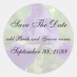 Purple Iris Save The Date Reminder Stickers