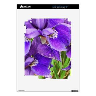 Purple Iris Skins For The iPad 2