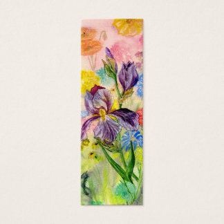 'Purple Iris' Small Bookmark Mini Business Card