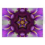 Purple Iris Star Mandala Card