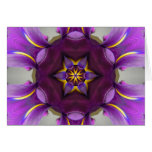 Purple Iris Star Mandala Cards