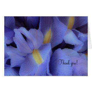 Purple Iris Thank You Mulit-Purpose Greeting Card