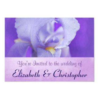 Purple Iris Themed Casual Wedding Invite