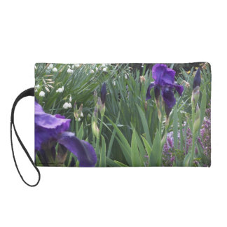 Purple Iris w/small bells Wristlet