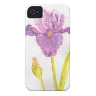 Purple Iris Watercolor iPhone 4 Cover