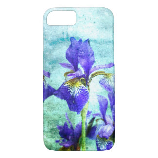 Purple Iris Watercolor iPhone 7 Case
