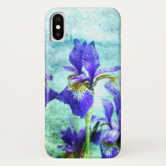 Purple Iris Watercolor iPhone X Case