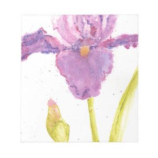 Purple Iris Watercolor Notepad