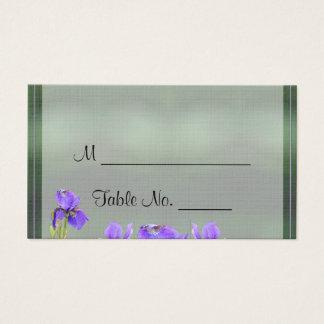 Purple Iris Wedding Place Cards
