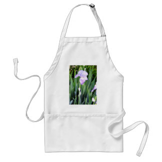 purple iris with the moring dew adult apron