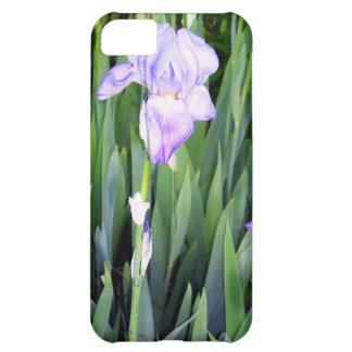purple iris with the moring dew iPhone 5C cases