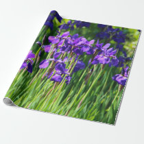 Purple Iris Wrapping Paper
