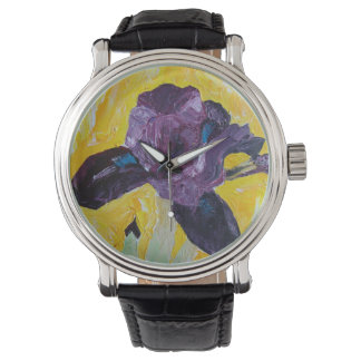purple iris wristwatch