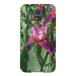 Purple Irises Beautiful Garden Flowers Galaxy S5 Covers