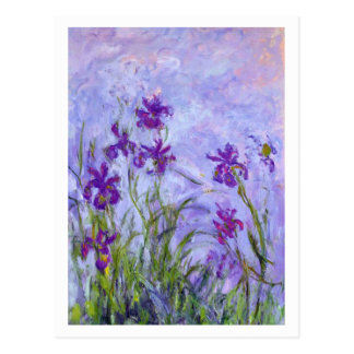 Purple Irises by Claude Monet Postcard