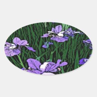 Purple Irises Digital Photo Sticker