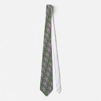 Purple Irises Floral Tie