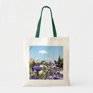 Purple Irises Garden Tote Bag